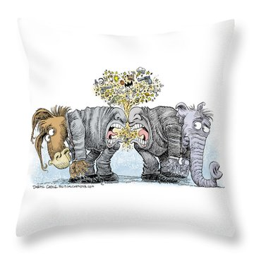 Congress Talking Out Of Their Butts Throw Pillow