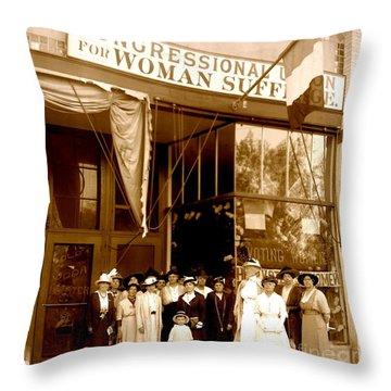 Congressional Union For Woman Suffrage Colorado Headquarters 1914 Throw Pillow