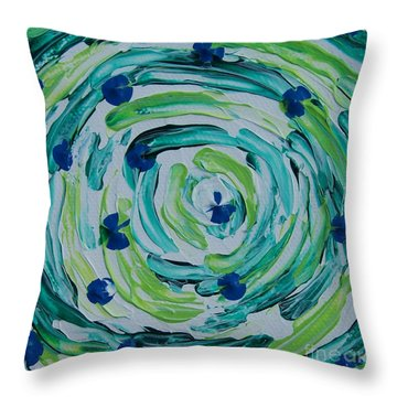 Connect The Dots Throw Pillow by Emily Young