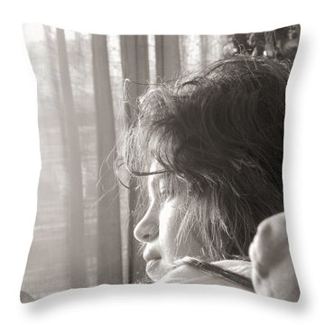Connect Us To The Life Outside Throw Pillow