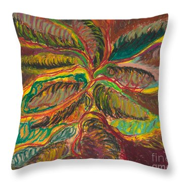 Throw Pillow featuring the painting Connected In Life by Ania M Milo