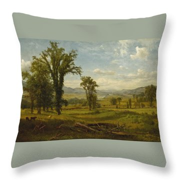 Connecticut River Valley, Claremont, New Hampshire Throw Pillow