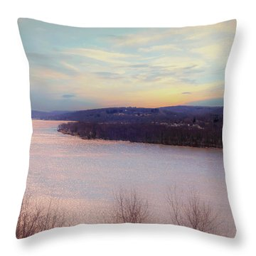 Connecticut River View From Gillette Castle. Throw Pillow