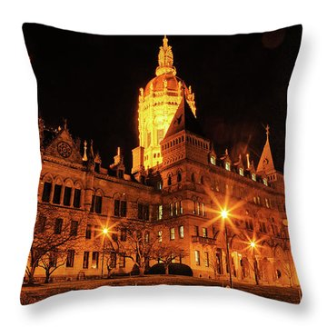 Connecticut State Capitol Throw Pillow