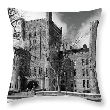Throw Pillow featuring the photograph Connecticut Street Armory 3997b by Guy Whiteley