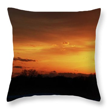 Connecticut Sunset Throw Pillow by Gordon Mooneyhan