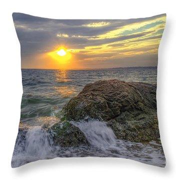 Connecticut Sunset Throw Pillow