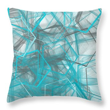 Connecting Angles Throw Pillow
