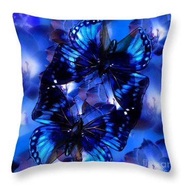 Connecting Butterflies Throw Pillow