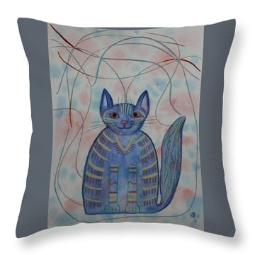 Connection Cat  Throw Pillow