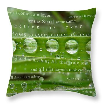 Connection Is Ever Here Throw Pillow