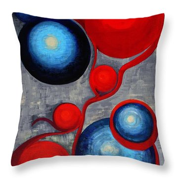 Throw Pillow featuring the painting Connections by Holly Carmichael