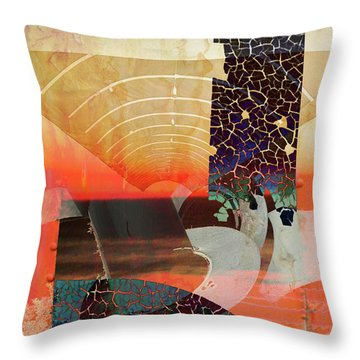 Connections In Space Throw Pillow by Robert Ball