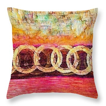 Connections Throw Pillow by William Wyckoff