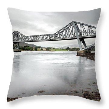 Connel Bridge Throw Pillow by Grant Glendinning