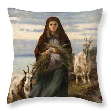 Connemara Girl Throw Pillow