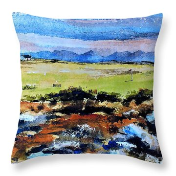 F  801  Connemara Golf, Ballyconneely, Galway Throw Pillow