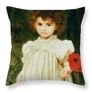 Connie Throw Pillow by William Clark Wontner