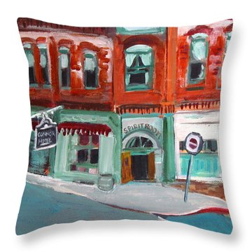 Connor Hotel In Jerome Throw Pillow