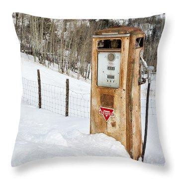 Conoco In The Snow Throw Pillow