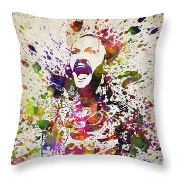 Conor Mcgregor In Color Throw Pillow