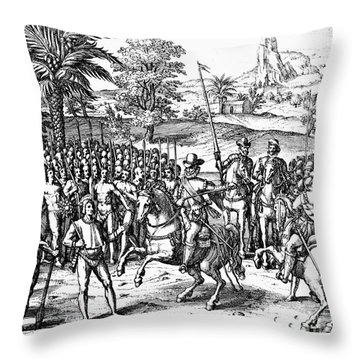 Conquest Of Inca Empire Throw Pillow by Granger