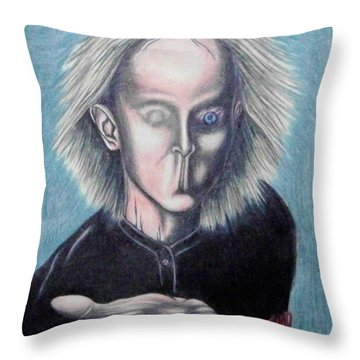 Throw Pillow featuring the drawing Consciousness by Michael  TMAD Finney