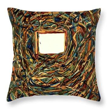 Consciousness Screen Throw Pillow
