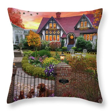 Conservatory House  Throw Pillow