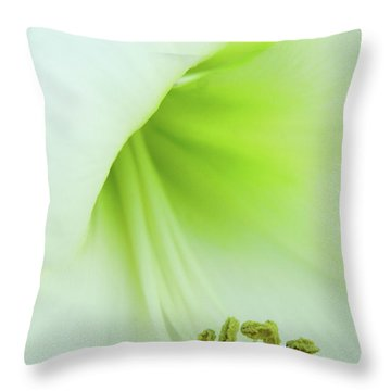Throw Pillow featuring the photograph Consider The Lily by Marie Leslie