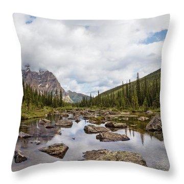 Consolation Lake Banff Throw Pillow