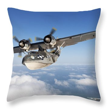 Consolidated Pby Catalina Throw Pillow by Larry McManus