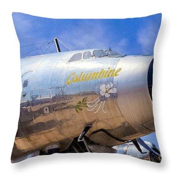 Constellation Columbine Throw Pillow