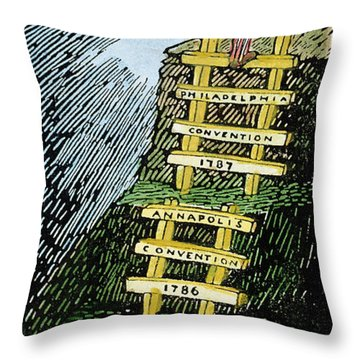 Constitution Cartoon Throw Pillow by Granger