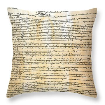 Constitution Throw Pillow by Granger