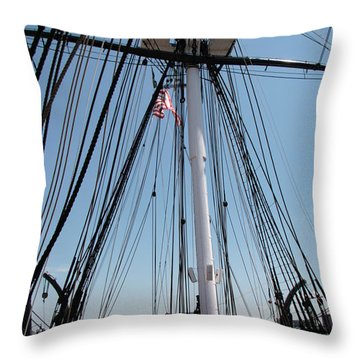 Constitution's Deck Throw Pillow