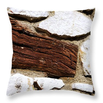Constriction Throw Pillow by Leo Symon