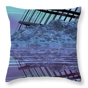 Construction And Destruction Throw Pillow by Wayne Bonney