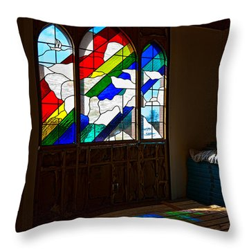 Construction Under Colors Throw Pillow by Christopher Holmes