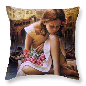 Consuelo Throw Pillow by Arthur Braginsky