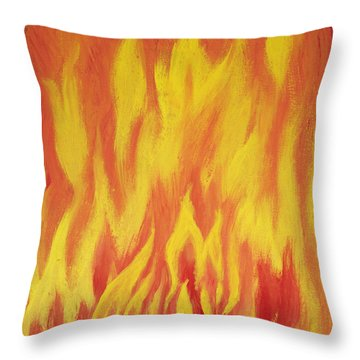 Throw Pillow featuring the painting Consuming Fire by Antonio Romero