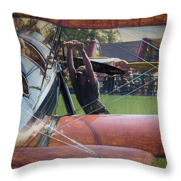 Throw Pillow featuring the photograph Contact by James Barber