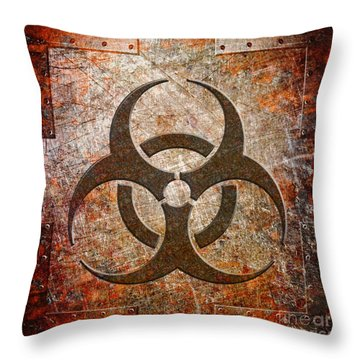 Contagion Throw Pillow