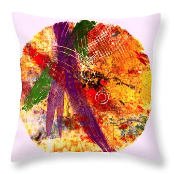 Throw Pillow featuring the painting Contained by William Renzulli