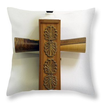 Container Cross Throw Pillow