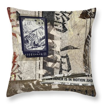 Container Is In Motion Throw Pillow by Carol Leigh