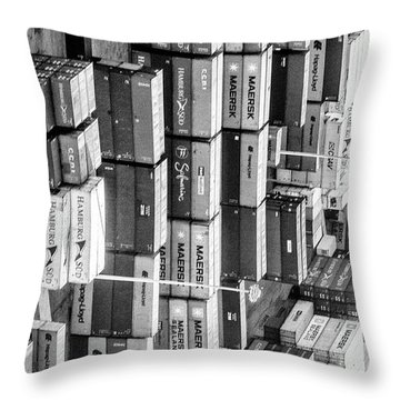 Container Library Throw Pillow
