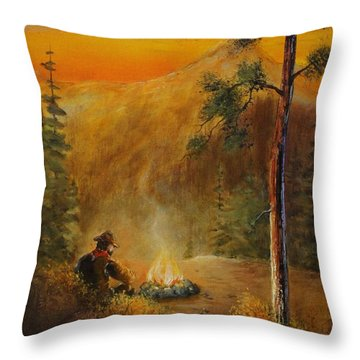 Contemplating The Journey Throw Pillow