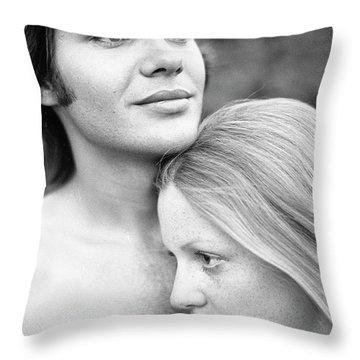 Contemplation, Part 1, 1973 Throw Pillow