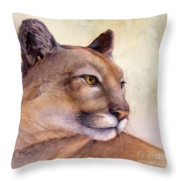 Contemplation Throw Pillow by Bonnie Rinier
